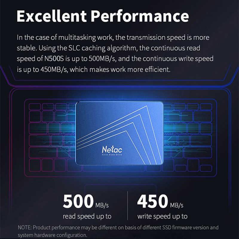 Netac N500S SSD 120 GB 240 GB 480 GB 960 GB 2,5 inch SATA III HDD Disco Duro SSD portátil PC 120 de 240 a 480G interna de unidad de estado sólido