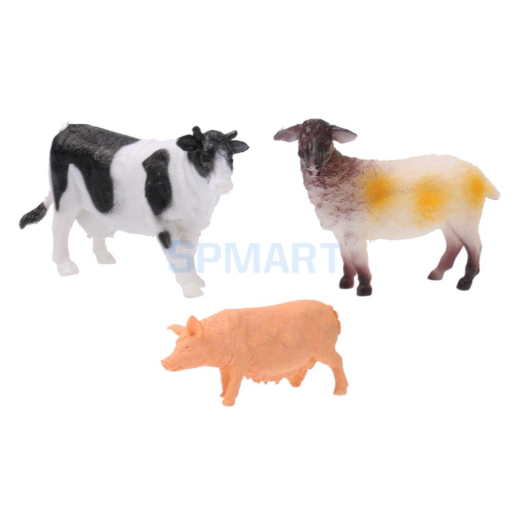 100 Pieces / Set Cartoon Plastic Farm Animals Models Cow Horse Sheep Pasture Fence Tree Model Eudcational Toys Kids Party Favors american edison loft style rope retro pendant light fixtures for dining room iron hanging lamp vintage industrial lighting page 6