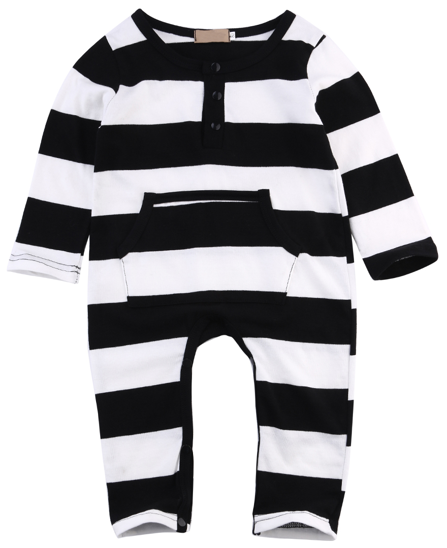Stripe Cotton Long Sleeve Kids Baby Boys Girls Infant Romper Jumpsuits Newborn One Pieces Clothes Outfits 0-3Y newborn infant baby girls boys long sleeve clothing 3d ear romper cotton jumpsuit playsuit bunny outfits one piecer clothes kid