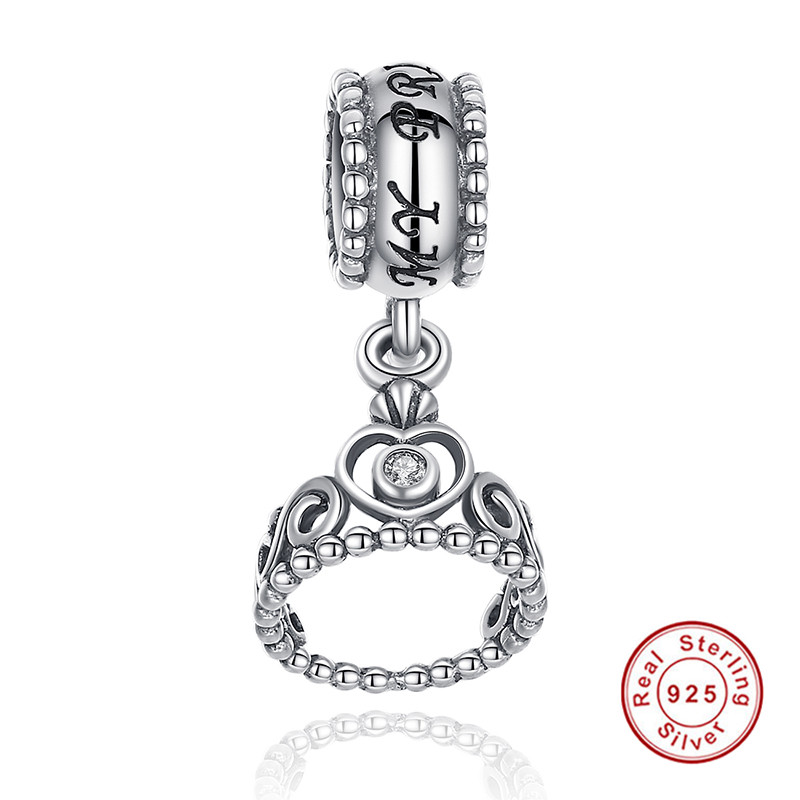 Authentic 925 Sterling Silver My Princess Clear Cz Pendant