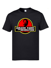 Jurassic Parks and Recreation Cool T Shirts Mens Fashion Clothing XXXL Father Tshirts 100% Cotton Fitness Tee For Men