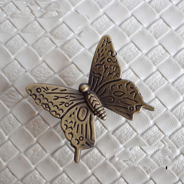 42mm Antike Bronze Schmetterling Knöpfe Dresser Drawer Pulls Griffe ...