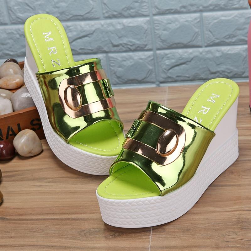HTB1cye.jVkoBKNjSZFkq6z4tFXae 2018 Summer New style Arrived Sexy Platform Wedges Sandals Women Fashion High Heels Female Slippers a634