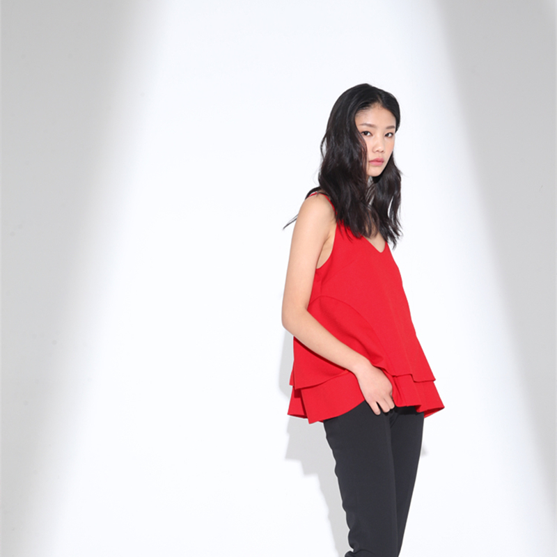 Laminé Halter Rouge Aussi Patchwork Ourlet Solide Tops A Buttefly Camisoles ligne Subtil axYwv