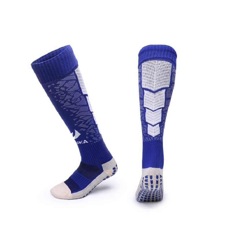 7b1c3adda ... Men Football Anti-skid Knee Socks Soccer Socks Sport Stockings Running  Bottom Thick Towel Football ...