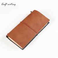 Cortical Vintage Notebook MIDORITRAVELER S Notebook Tea Color Birthday Gift For The DIYagenda Of The AirportSchool
