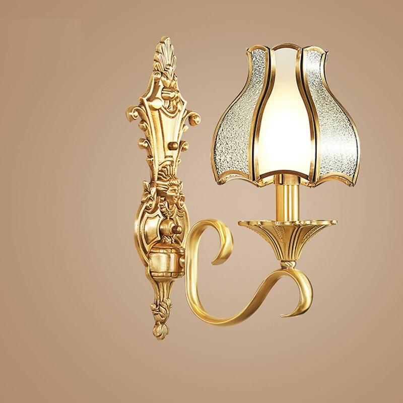 Светодиодные лампы ночь стены свет для спальни отель restauant бра свет спальня прикроватные бра гостиная лампа антикварные светильники бронзо