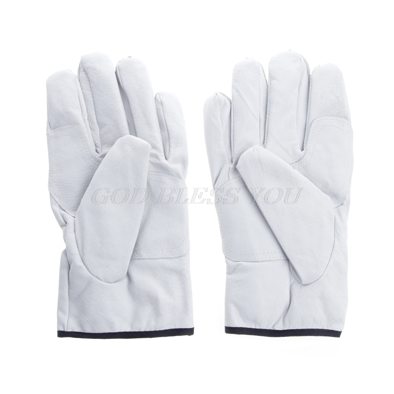 1 Pair Leather Welding Safety Gloves Welder Working Repair Labor Garden Gloves