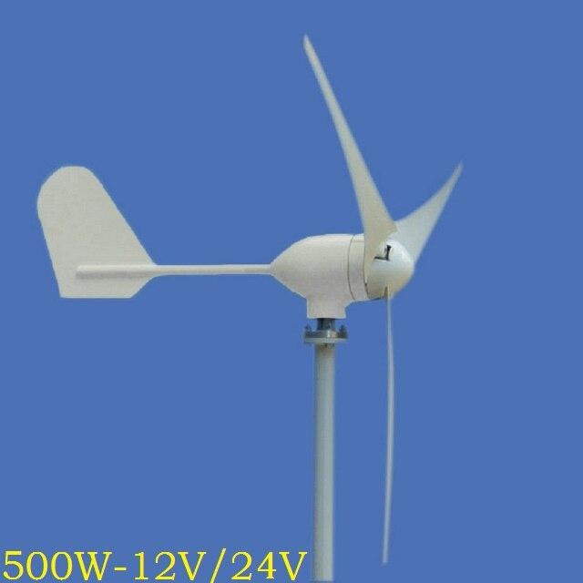 Le générateur d'énergie éolienne de WWS-ENERGY 500 W 12 V ou 24 V comprend le contrôleur de générateur 3 lames adaptées à l'utilisation de Yacht de bateau de bateau de bateau à la maison