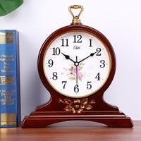 거실 큰 벽시계  유럽 복고풍 테이블 시계  현대 창조적 인 음소거 시계