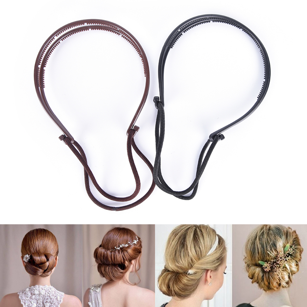 1Pc Plastic Women Loop Hair Styling Tools Black Topsy Pony Topsy Tail Clip Hair Braid Maker Styling Tool image