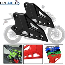 цены For Kawasaki Z900 Z 900 2017 With Z900  Motorcycle Accessories CNC Aluminum Foot Peg Protector Heel Protective Cover Guard