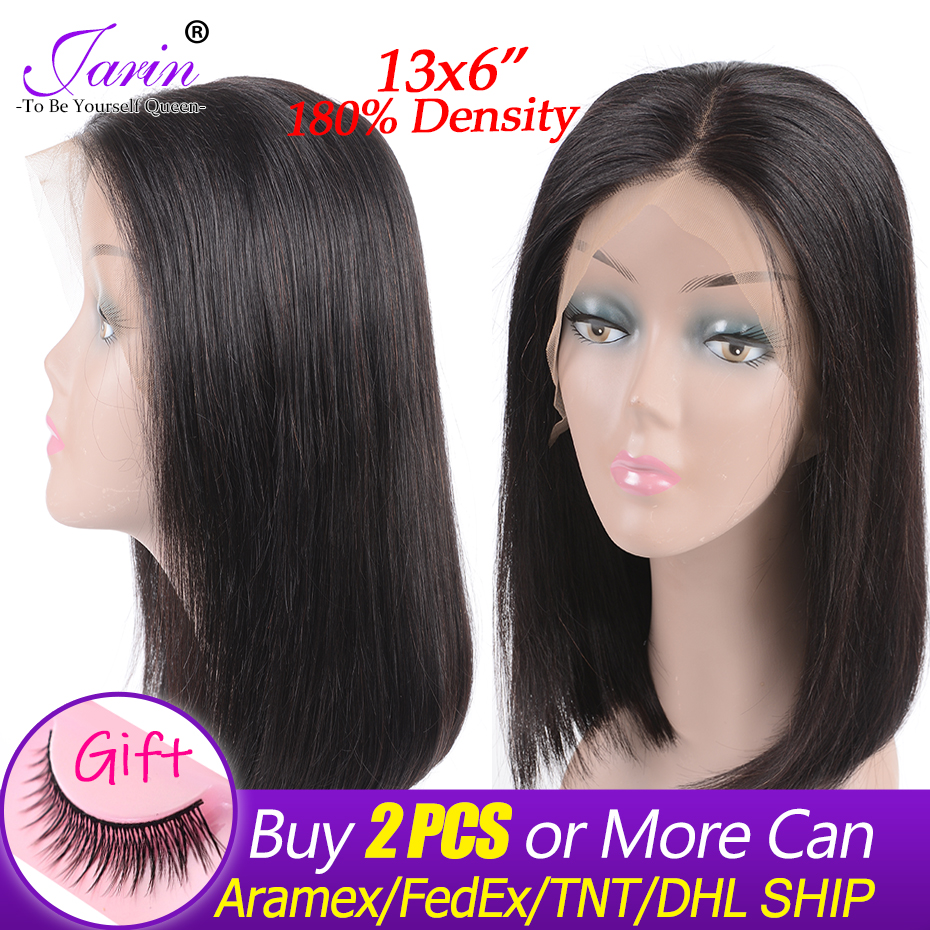 Lace Front Wig Peruvian Straight Hair Short Bob Wigs 13x6 Ear To Ear Lace Frontal Human
