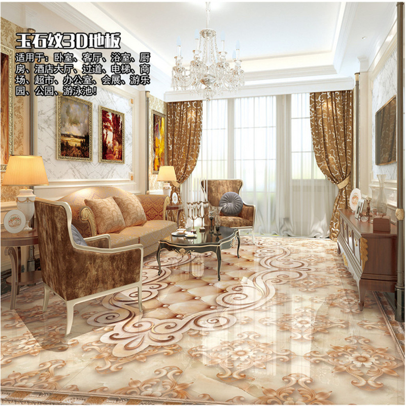 beibehang Large Custom Wallpaper Mural Marble Jade Pattern 3D Parquet Floor Tile papel de parede para quarto wall paper beibehang custom marble pattern parquet papel de parede 3d photo mural wallpaper for walls 3 d living room bathroom wall paper