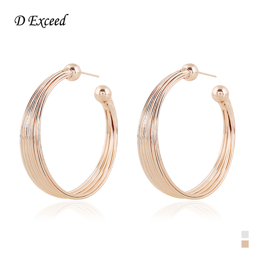 Line Art Earrings : Charms gold silver big hoop hand line art earrings for