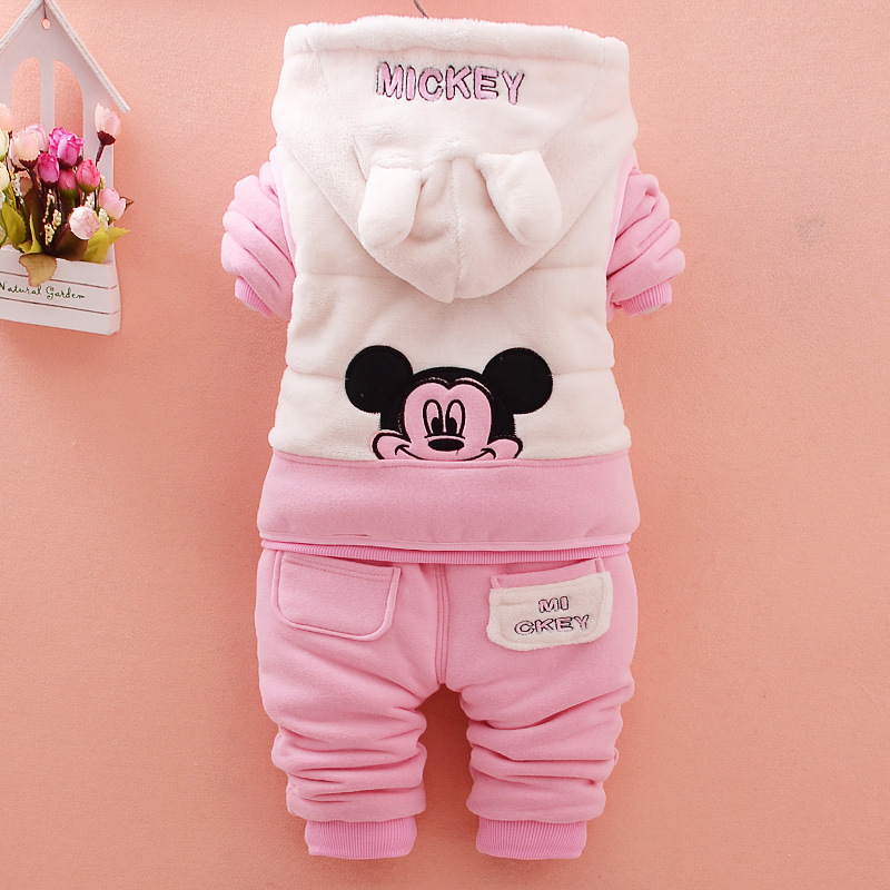 2019 Fashion Baby Girl Clothes Winter Cartoon Infant Thicken Velvet Coat T-shirt Pants 3pcs/Sets Children Clothing Kid Tracksuit2019 Fashion Baby Girl Clothes Winter Cartoon Infant Thicken Velvet Coat T-shirt Pants 3pcs/Sets Children Clothing Kid Tracksuit