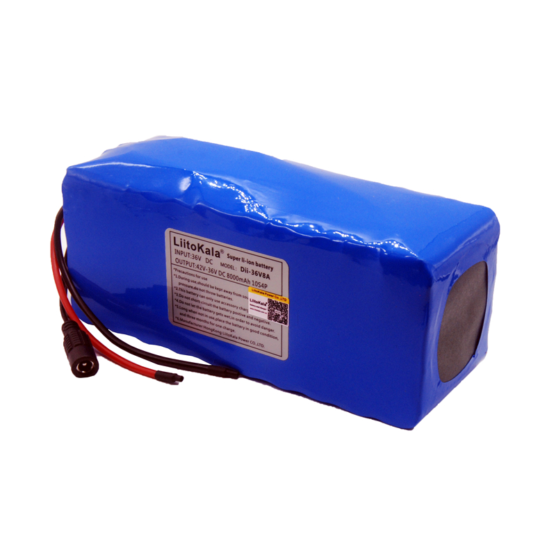 Image 4 - LiitoKala 36V 10ah 500W 18650 lithium battery 36V 8AH Electric bike battery with PVC case for electric bicycle-in Battery Packs from Consumer Electronics