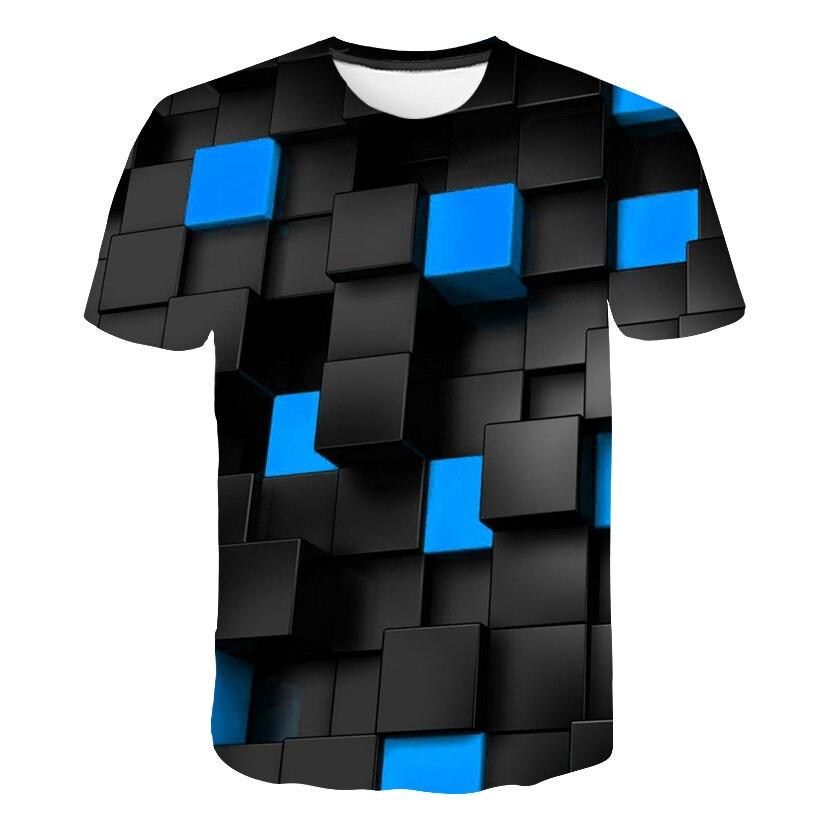 2019 nova marca xadrez t camisas dos homens geométrico tshirt homme listras tshirts casual vortex t camisa 3d colorido impressão roupas dos homens