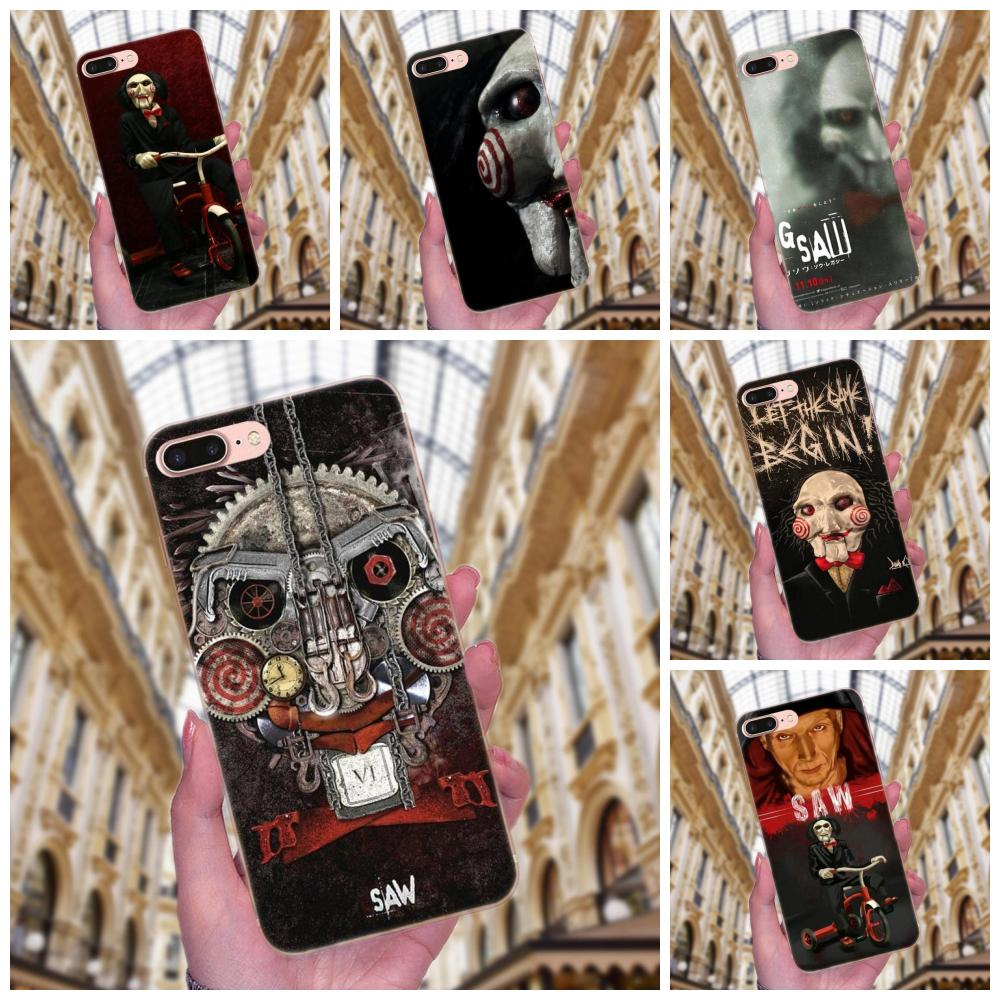 Luxury Hybrid Phone <font><b>Case</b></font> Saw Horror Moive Ghost Remarkable For Apple <font><b>iPhone</b></font> X XS Max XR 4 4S 5 5C <font><b>5S</b></font> SE 6 6S 7 8 Plus image