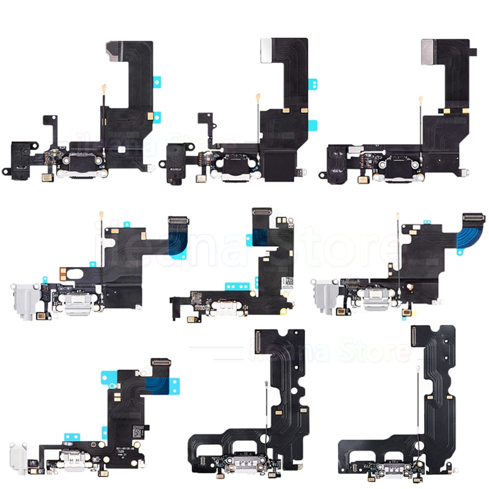 OEM USB Port Charger Dock Connector Flex Cable For IPhone 6 6s 7 8 Plus Dock Charging With Mic Flex Free Shipping