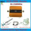 El Oro más nuevo GSM 3g 2100 Pantalla LCD WCDMA 2100 mhz Repetidor Del Teléfono Móvil Amplificador de Señal UMTS Amplificador de Señal Celular + antena