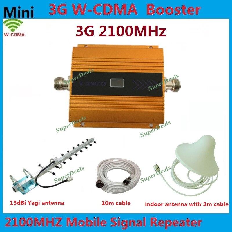 Le plus récent or GSM 3g 2100 Signal Booster LCD affichage WCDMA 2100 mhz répéteur de téléphone Mobile UMTS amplificateur de Signal cellulaire + antenne