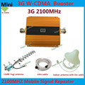 Newest Gold GSM 3g 2100 Signal Booster LCD Display WCDMA 2100mhz Mobile Phone Repeater UMTS Cellular Signal Amplifier + Antenna