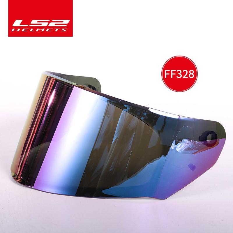 Visière de casque dorigine LS2 ff328 adaptée aux casques LS2 ff320 ff353 modèle transparent fumée argent lentille arc-en-ciel