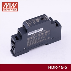 MEAN WELL HDR-15-5 5V 2.4A meanwell HDR-15 15W Single Output Industrial DIN Rail Power Supply