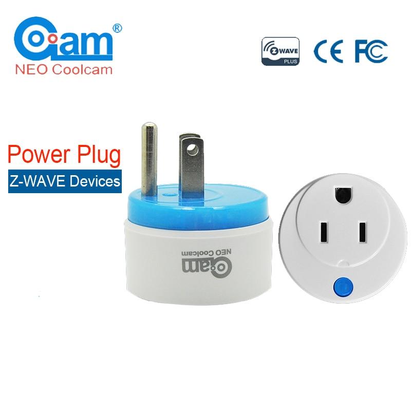NEO COOLCAM NAS-WR02ZU Z-wave US Smart Power Plug Socket Z Wave Repeater Extender Outlet Plug Home Automation Alarm System