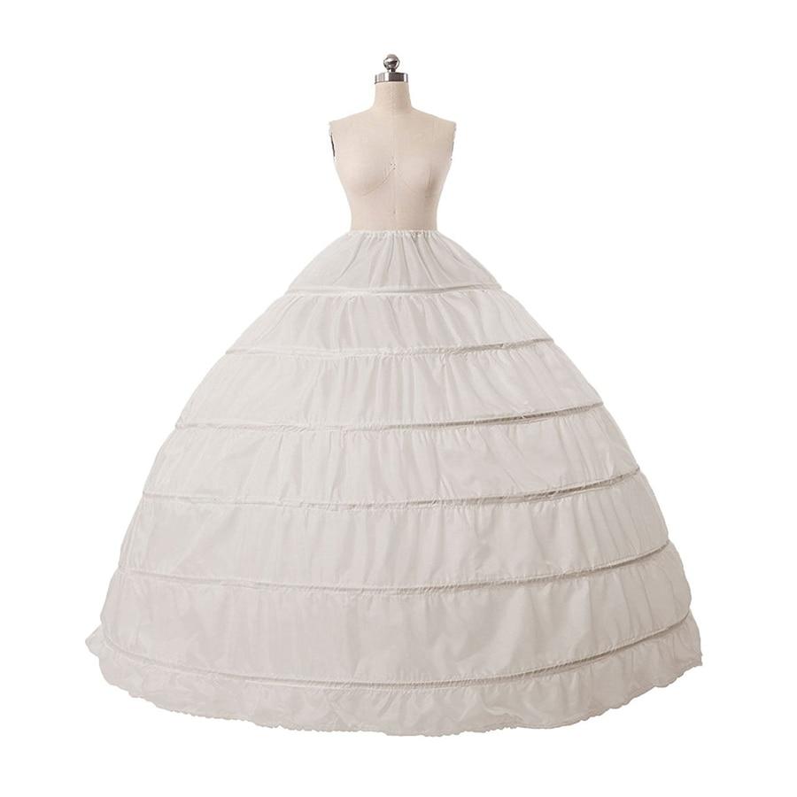 Us stock swing vintage slips intimates cheapest plus size white petticoat 6 hoope long crinoline underskirt hoops skirt