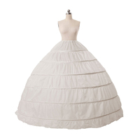 US STOCK Swing Vintage Slips Intimates Cheapest Plus Size White Petticoat 6 Hoope Long Crinoline Underskirt Hoops Skirt