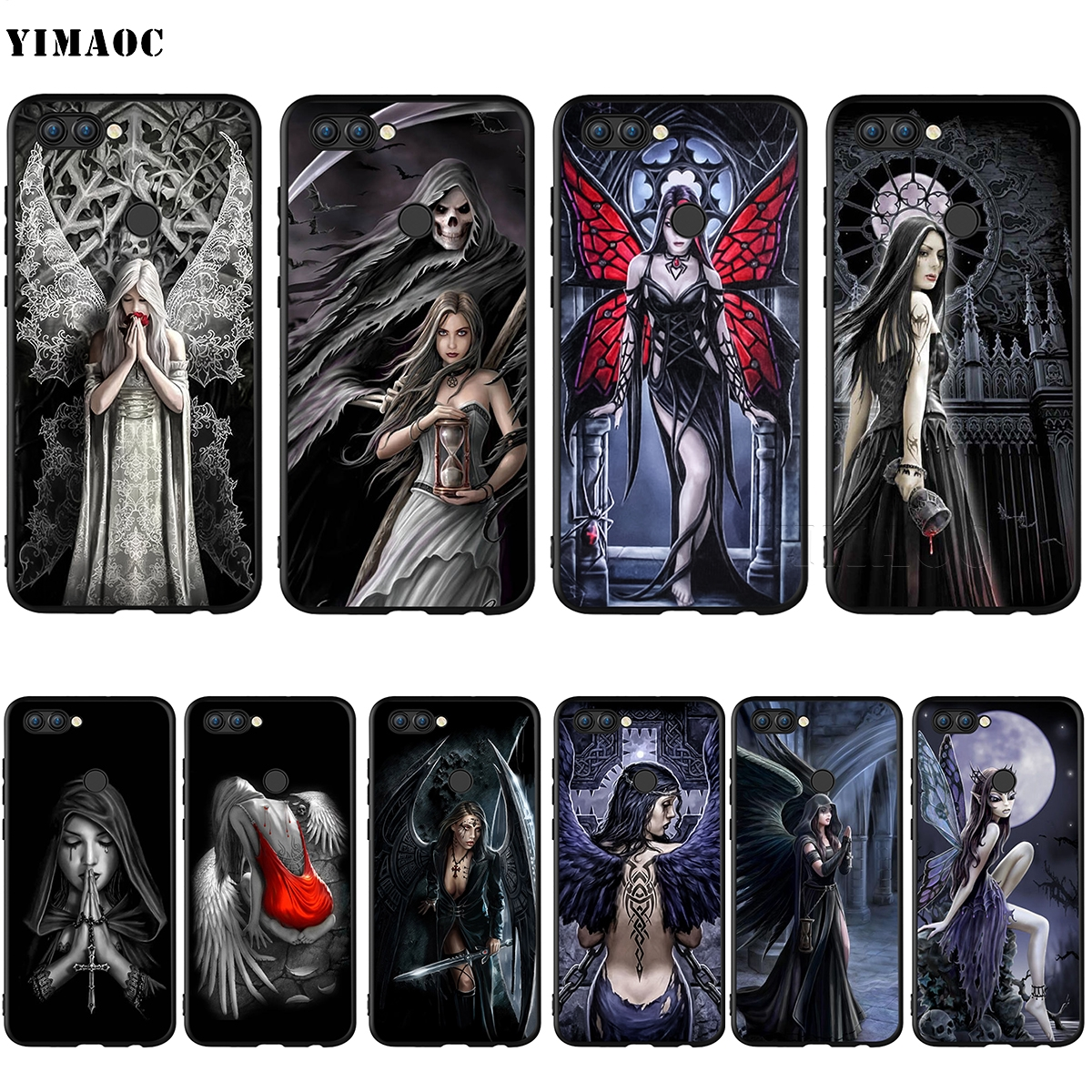 YIMAOC Anne Stokes Gothic Silicone Case for Huawei Honor Mate Y6 6A 8 9 10 P8 P9 P10 P20 P Smart Lite Pro 2017