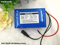 24V 7S2P 4000mah 4AH 18650 Battery Pack / LED lamps using alternate power supply / electric bicycle batteries +29.4V 2A charger