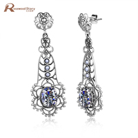 Women S Earring Cubic Created Zirconia Stone 100 925 Sterling Silver Handmade Luxury Vintage Natural Pearl