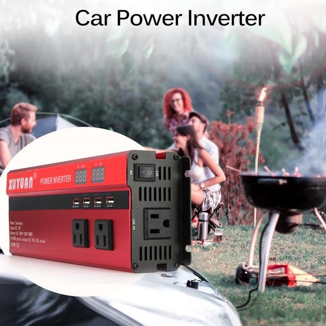 SOLAR Power INVERTER 5000W Sine WAVE อินเวอร์เตอร์ DC AC 12 V/24 V 220V Converter 4 USB พอร์ต Dual จอแสดงผล LED