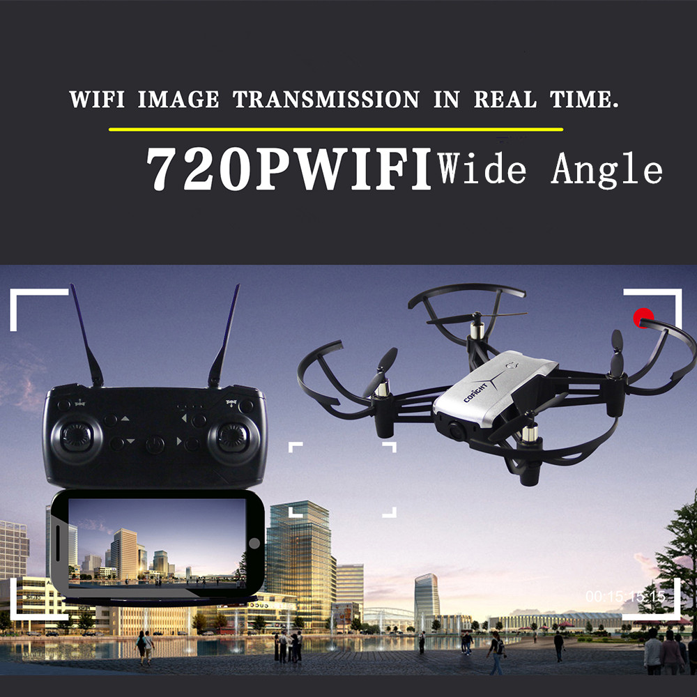 Mini RC Drone Quadcopters RC Helicoputers 2.0MP 720P WIFI FPV Camera Altitude Hovering One Key Return/Take Off/Landing 3D Roll