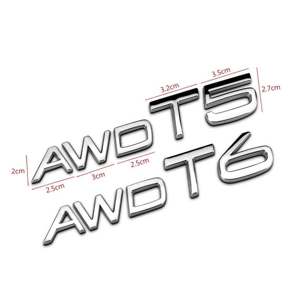 AWD T5 T6  for Volvo Sticker (15)