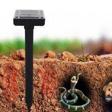 Solar Power Ultrasonic Snake Repellent Mouse Drive Device Outdoor Garden Yard Snakes Repeller