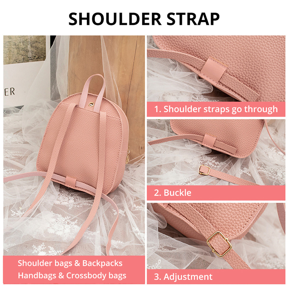 HTB1cygIXv1H3KVjSZFBq6zSMXXaB 2019 Mini Backpack Women Korean Style PU Leather Shoulder Bag For Teenage Girls Multi-Function Small Bagpack Female Phone Pouch