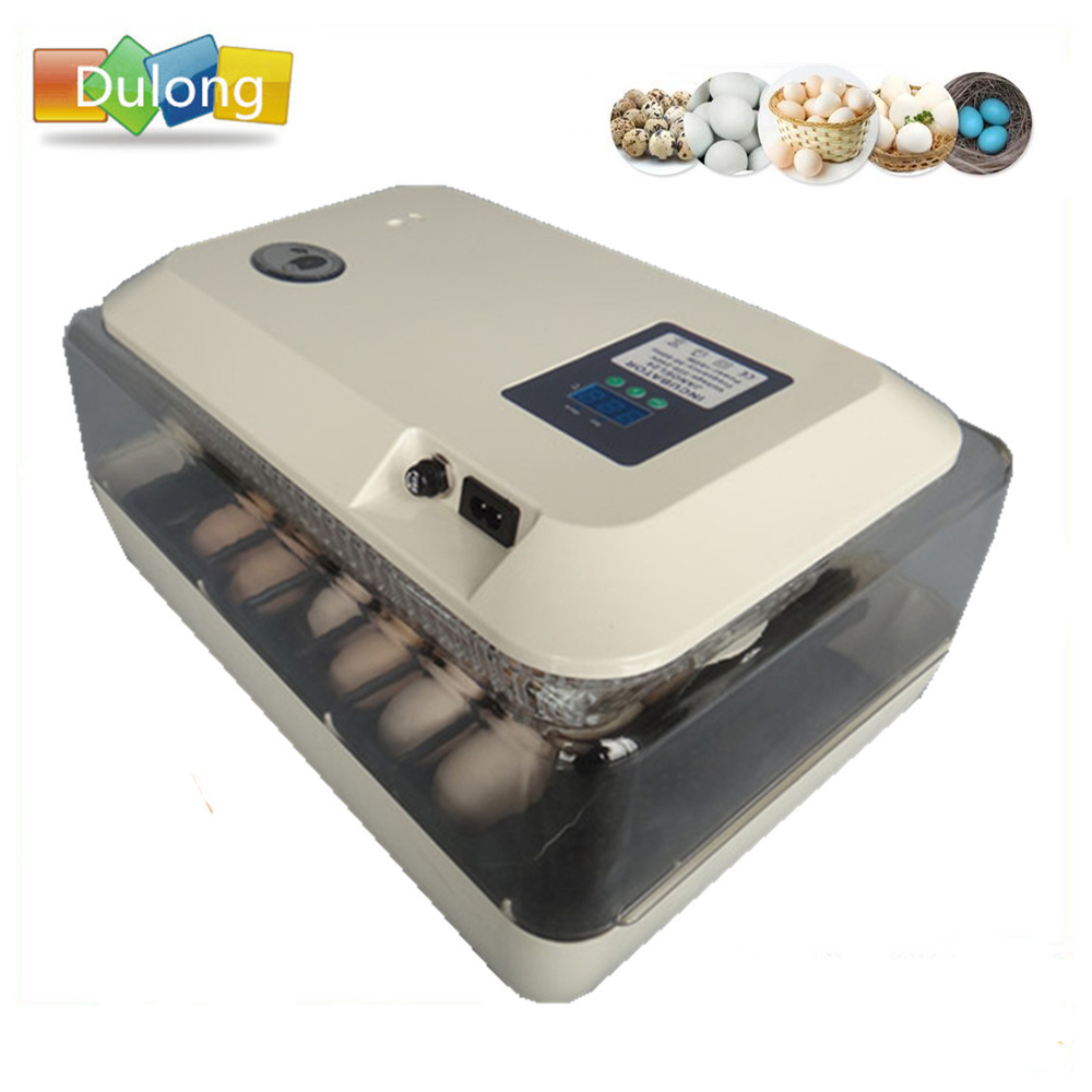 Home farm mini automatic hatchers poultry quail chicken 24 egg incubator for hatching digital LED trays hatchery machine все цены