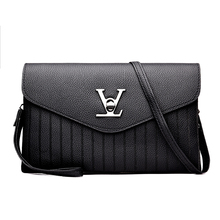 Latest New Fashion Brand V Word Pu Leather Women Black Red Gray Shoulder & Crossbody Bag Handbag Messenger Ladies Baguette