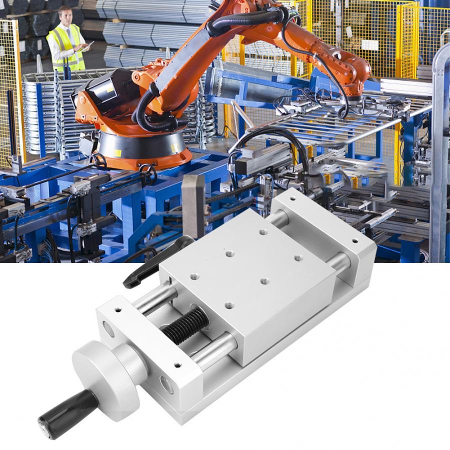 KA80-1402-50/100/150 alliage d'aluminium haute précision Table coulissante manuelle mouvement linéaire Table coulissante croix 80*80mm