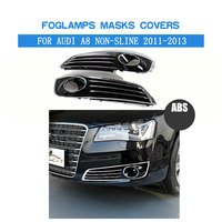 ABS Front Fog Light Covers Lamp Masks Fit For Audi A8 Non Sline Bumper 2011 2013 Car Tuning Parts