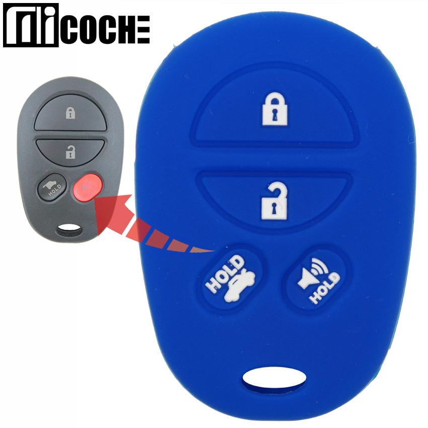 Automobiles & Motorcycles 4 Buttons Car Key Case Cover For Toyota Camry Highlander Sequoia Fortuner Sienna Van Tundra Tacoma Solara 4runner Aurion Avalon