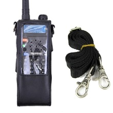 Extended Leather Soft Case Holster for Baofeng UV-5R UV-5RA UV-5RE Series with 3800mAh Battery Two Way Radio Walkie Talkie