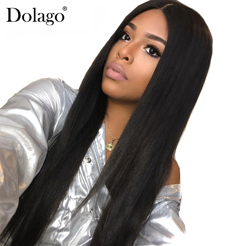 Straight Wig Lace Front Human Hair Wigs For Women Brazilian Pre Plucked With Baby Hair Natural