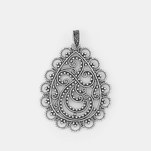 цена на 2pcs Antique Silver Open Lacework Filigree Water Drop Pendant Connector For Necklace Earring Jewelry Making Findings 71*56mm