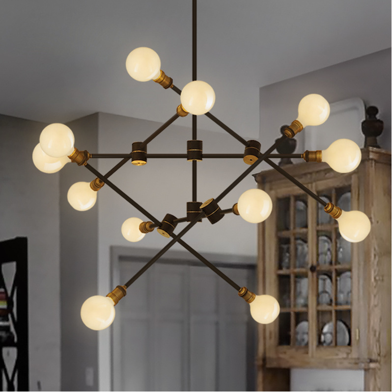Nordic industrial pendant light for bedroom vintage Dining Room restaurant lamps modern pendant lights cord Hanging lighting modern crystal chandelier hanging lighting birdcage chandeliers light for living room bedroom dining room restaurant decoration