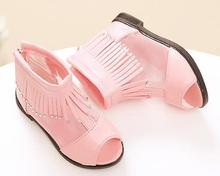 fish mouth sandals summer time princess footwear tassel ornament child footwear hole type women sandals